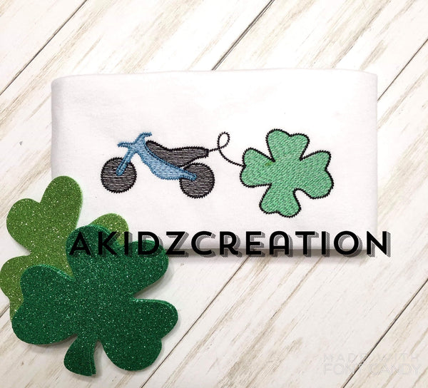 dirt bike embroidery design, sketch embroidery design, sketch dirt bike embroidery design, clover embroidery design, shamrock embroidery design, sketch clover embroidery design, sketch shamrock embroidery design