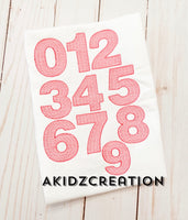 number embroidery design, sketch number set embroidery design, sketch embroidery design, sketch numbers design, build your own number set embroidery design, akidzcreation