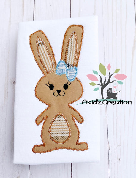 zig zag rabbit embroidery design, rabbit applique design, easter embroidery design, girl bunny embroidery design, rabbit applique, machine embroidery bunny embroidery design, bunny applique, rabbit applique, easter embroidery design, easter applique, bunny in bow embroidery design