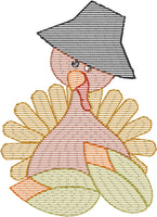 Sketch Corn Turkey Design