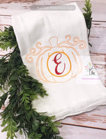 Bean Stitch Pumpkin Monogram Design