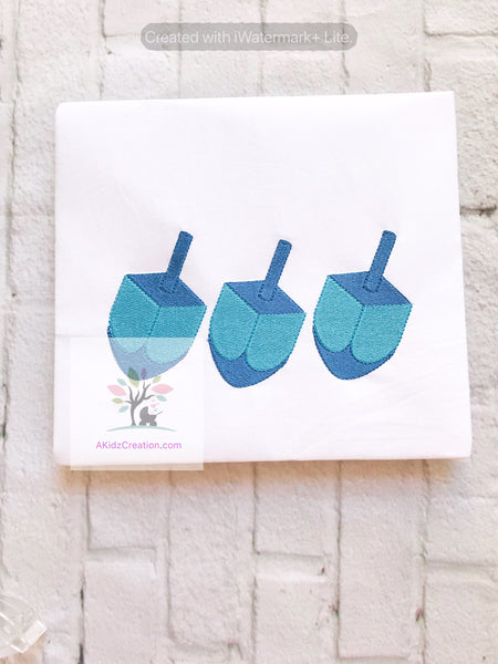 Dreidel Trio Fill Design