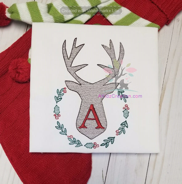 Sketch Deer Wreath Design