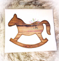 Zig Zag Rocking Horse Applique