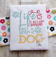 dog embroidery, dog saying , sketch embroidery, paw print embroidery