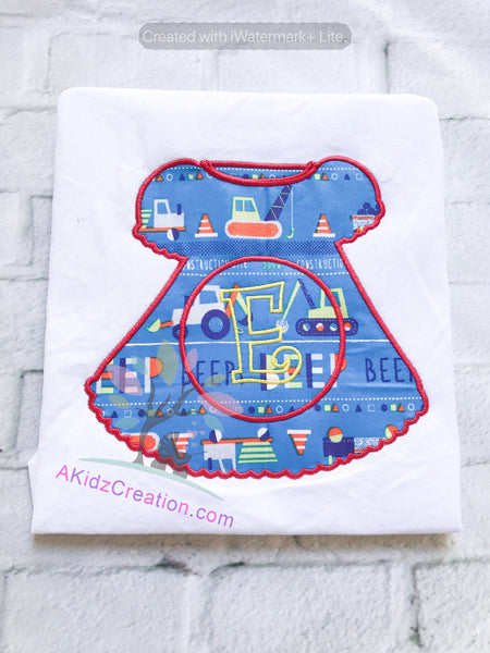 dress applique, girl dress applique, dress embrodiery, monogram design, monogram applique
