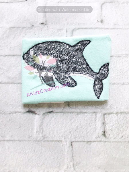 killer whale embroidery, akidzcreation, orca embroidery, whale embroidery, nautical embroidery, applique design, whale applique, shamu embroidery, shamu applique