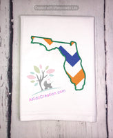 florida applique embroidery design, florida design, akidzcreation, florida outline applique