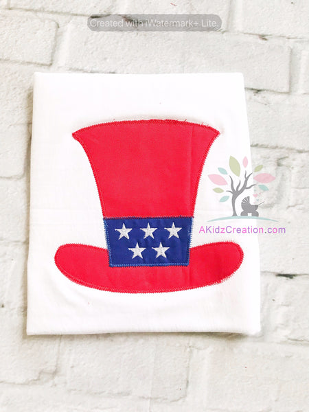 patriotic hat embroidery design, 4th of july embroidery design, independence day embroidery design