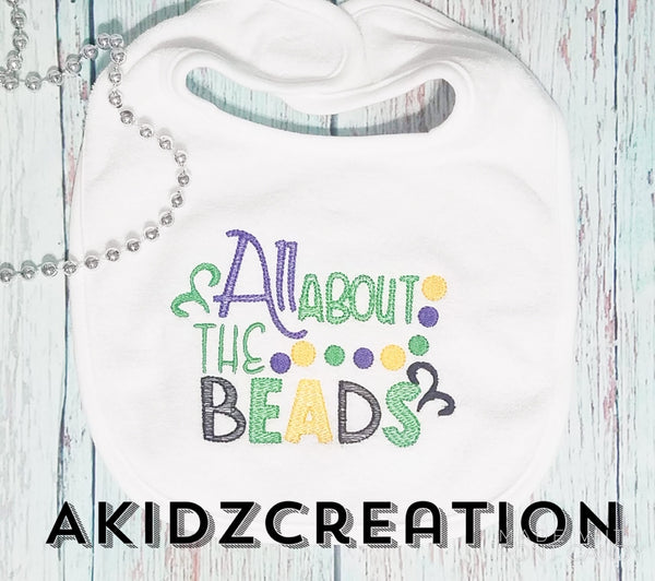 mardi gras embroidery design, mardi gras all about the beads embroidery design, mardi gras beads embroidery design, mardi gras design, machine embroidery design, sketch mardi gras embroidery design