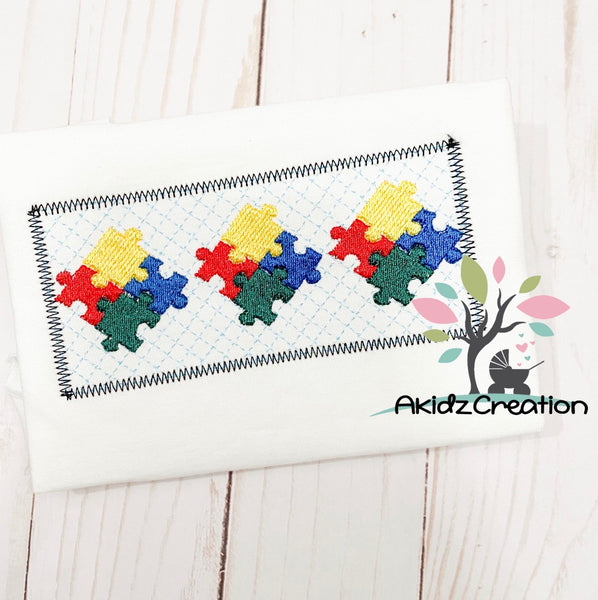 autism awareness embroidery design, faux smock autism embroidery design, autism embroidery, autism embroidery design, autism awareness embroidery design, faux smock embroidery design, faux smock autism embroidery design