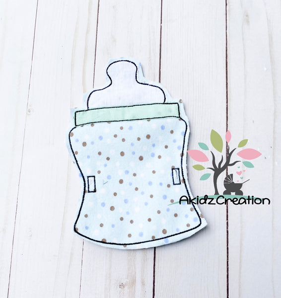 baby bottle banner embroidery design, banner embroidery design, in the hoop banner embroidery design, in the hoop baby shower decor embroidery design, baby bottle embroidery design