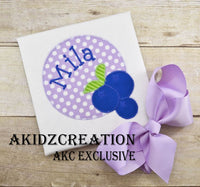 blueberry monogram frame, blueberry embroidery design, blueberry design, food embroidery design, fruit embroidery design, monogram embroidery design, akidzcreation, machine embroidery design