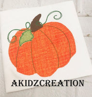 pumpkin embroidery design, pumpkin applique, applique, vintage pumpkin embroidery design, halloween embroidery design, thanksgiving embroidery design