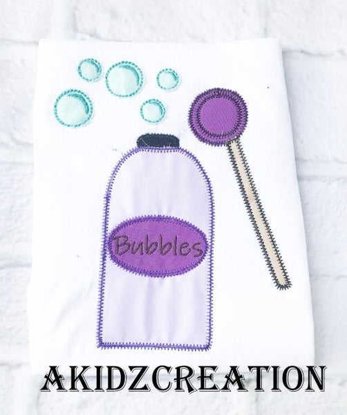 bubbles embroidery design , bubble wand embroidery design, bubble container embroidery design, toddler embroidery design, summer embroidery design
