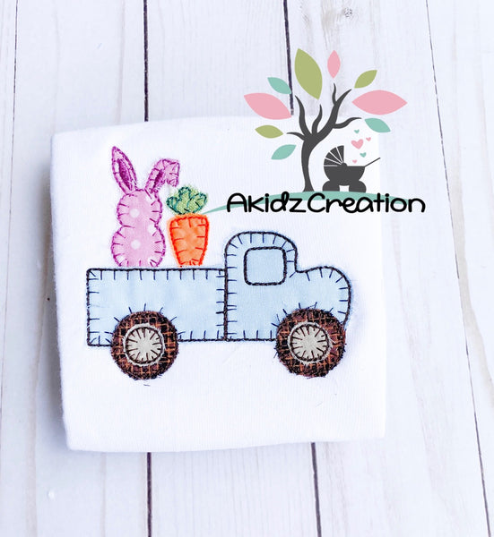 bunny embroidery, carrot embroidery, blanket stitch applique, carrot embroidery design, carrot applique, bunny embroidery design, bunny applique, truck embroidery design, truck applique, machine embroidery truck , machine embroidery carrot, easter embroidery design, spring embroidery design