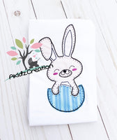 easter egg embroidery, easter embroidery, akidzcreation, machine embroidery, easter bunny in an egg, bunny embroidery design, rabbit embroidery design, easter egg embroidery design
