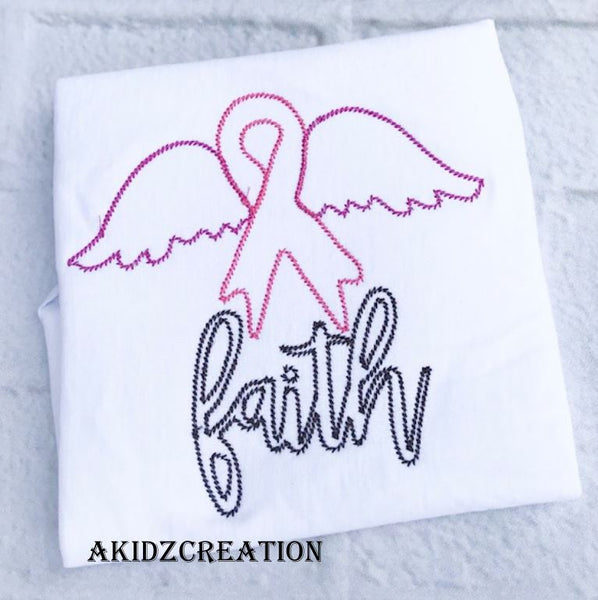 faith embroidery design, cancer embroidery design, cancer ribbon embroidery design, cancer wings embroidery design, faith embroidery design, cancer awareness embroidery design