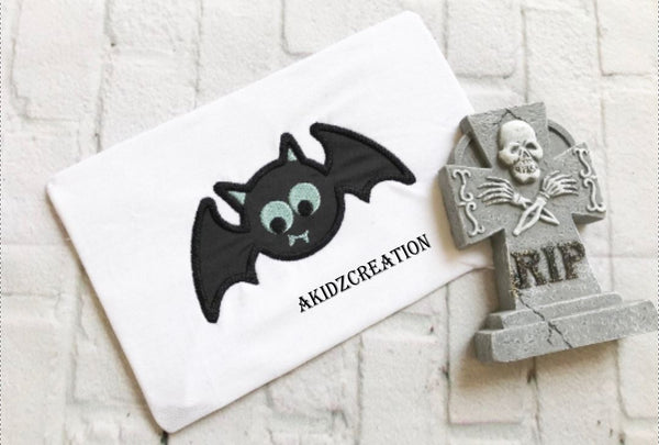 bat embroidery design, bat applique, halloween embroidery design, cute bat embroidery design, spooky halloween embroidery design, machine embroidery design, embroidery design