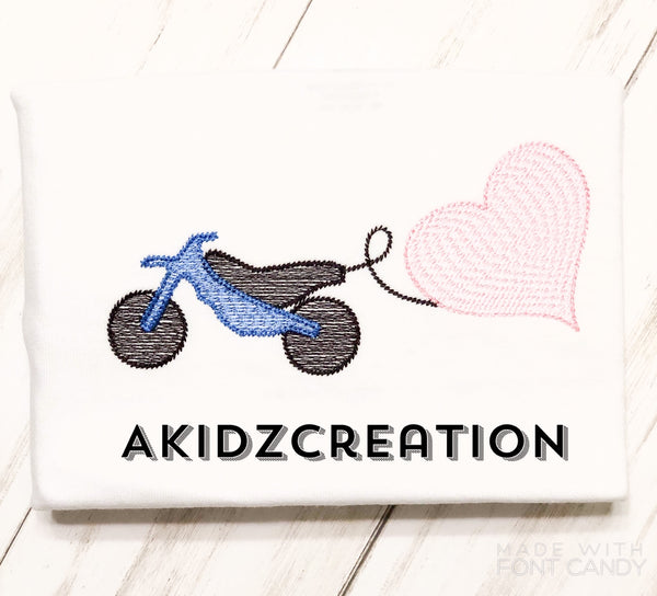 dirt bike embroidery design, sketch embroidery design, heart embroidery design, valentines embroidery design, sketch valentines embroidery design, sketch dirt bike embroidery design, valentines dirt bike embroidery design