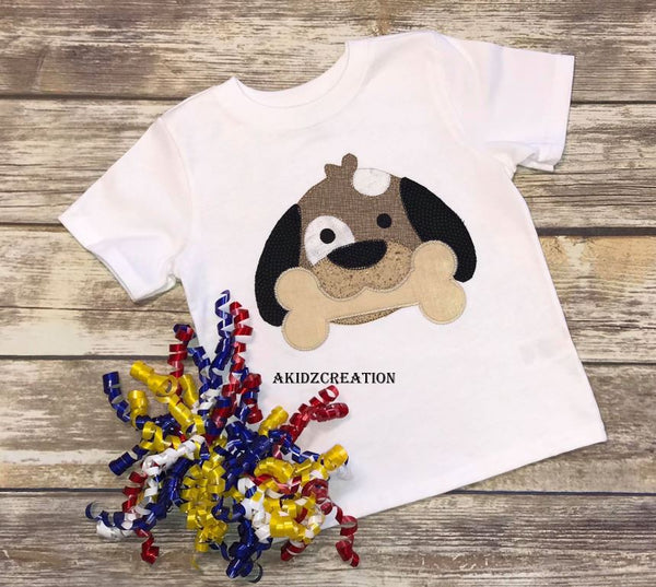 dog embroidery, dog applique, puppy embroidery, puppy applique, bone embroidery, bone applique, blanket stitch embroidery, applique, vintage stitch embroidery