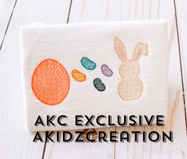 easter egg embroidery design, jelly bean embroidery design, easter bunny embroidery design, rabbit embroidery design, egg embroidery design