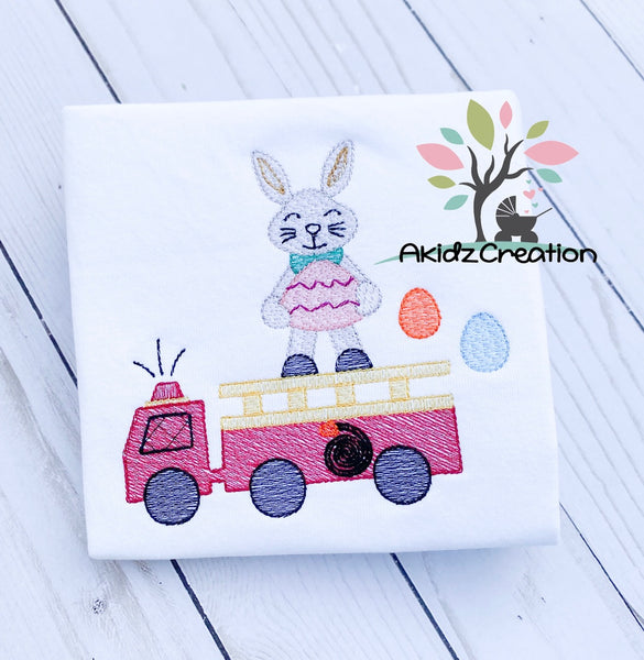 easter bunny fire truck embroidery design, machine embroidery design,akidzcreation, embroidery, easter egg embroidery, easter embroidery design, easter egg embroidery design, fire truck embroidery design, easter embroidery design, easter bunny embroidery design, bunny embroidery design, rabbit embroidery design