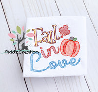 fall in love embroidery design, pumpkin embroidery design, fall embroidery design, fall embroidery saying, fall leaves embroidery, maple leaf embroidery, thanksgiving embroidery