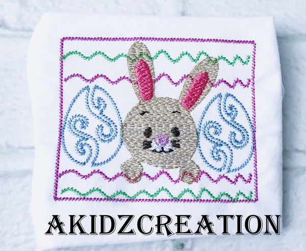 faux smock bunny embroidery design, bunny embroidery, rabbit embroidery, easter bunny embroidery design, faux smock embroidery, easter egg embroidery