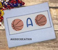 faux smock embroidery design, faux smock basketball monogram embroidery design, basketball embroidery, basketball monogram embroidery design, akidzcreation, sports embroidery design