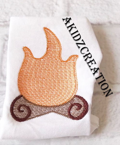 sketch embroidery design, sketch firepit embroidery design, camping embroidery design, fire embroidery, camp fire embroidery design, akidzcreation