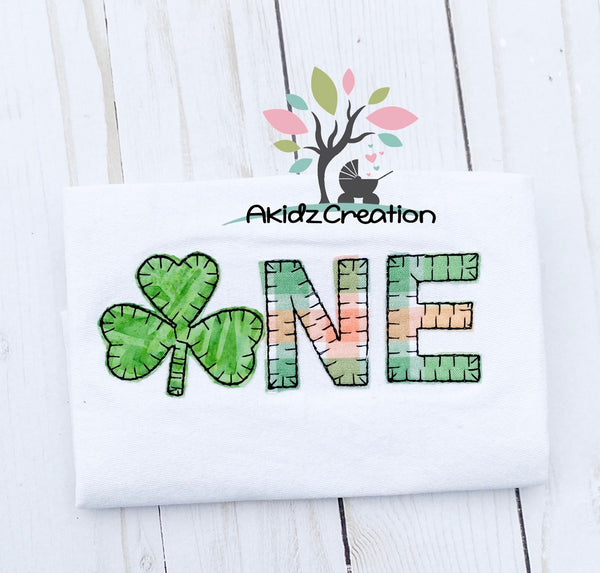 clover embroidery design, shamrock embroidery design, st patricks day embroidery design, clover applique, shamrock applique, first birthday embroidery design, first birthday applique embroidery design, one embroidery design, blanket stitch applique, blanket stitch clover applique, blanket stitch shamrock applique