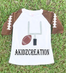 football applique design, goal post applique design, embroidery, machine embroidery design, sports embroidery