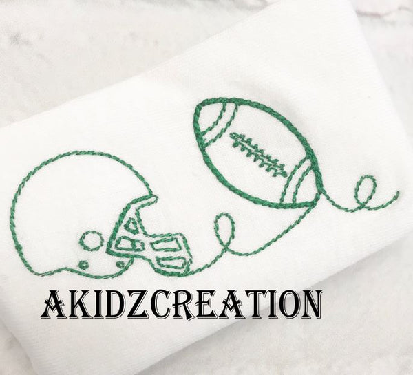 football quilting embroidery pattern, embroidery pattern, embroidery file, machine embroidery, football helmet embroidery design, football embroidery design, quilting embroidery