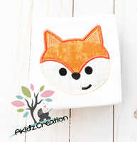 fox head applique, applique, machine embroidery fox design, fox applique, fox applique, woodland creature embroidery design, woodland fox applique, embroidery design