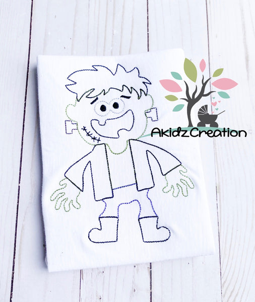 zombie frankenstein embroidery design, frankenstein embroidery design, zombie embroidery design, halloween embroidery design