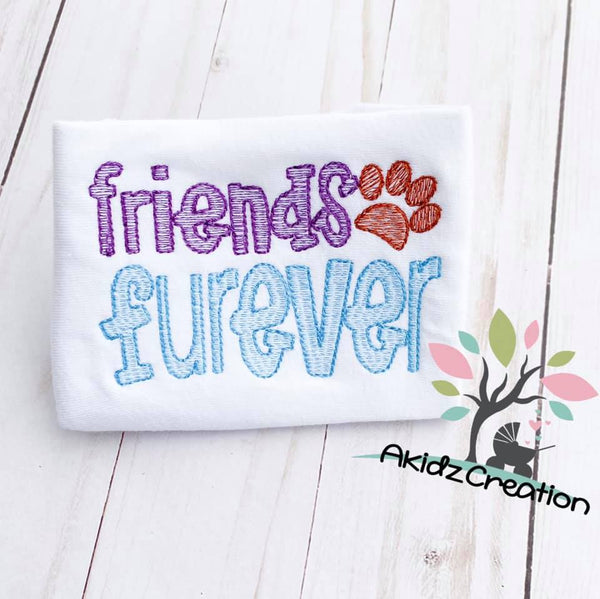 friends furever embroidery design, dog embroidery, sketch dog embroidery design, sketch dog embroidery design, sketch paw print embroidery design, paw print embroidery design, arrow embroidery design