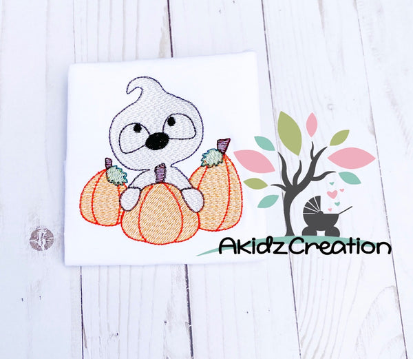 ghost embroidery design, sketch ghost embroidery design, sketch pumpkin embroidery design, pumpkin embroidery design, sketch embroidery design