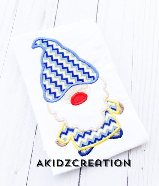 gnome applique, gnome emboroidery design, gnome design, gnome applique design, applique, machine embroidery applique, applique, akidzcreation