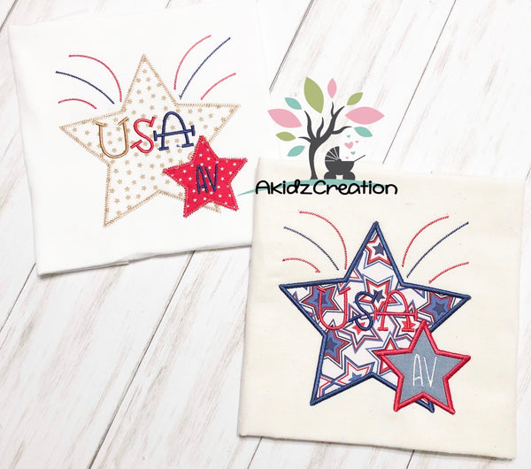 star embroidery design, star applique, patriotic embroidery design, 4th of july embroidery design, independence day embroidery design, applique, monogram embroidery design, patriotic stars embroidery design
