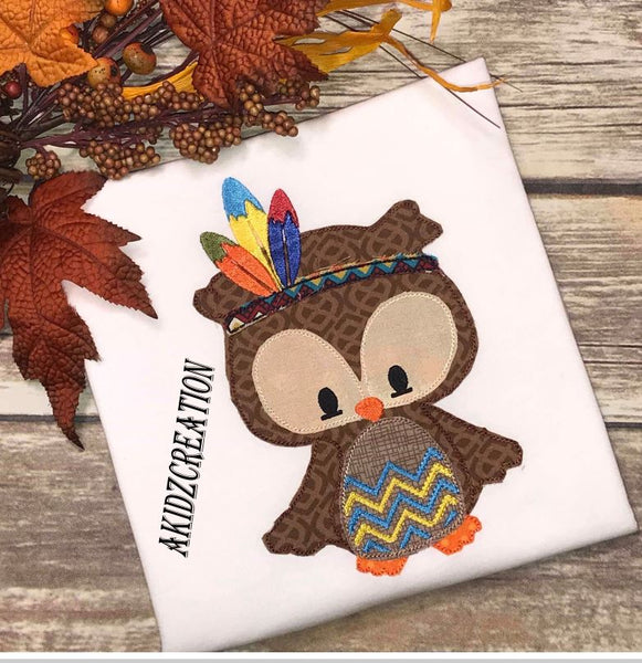 indian embroidery design, owl embroidery design, indian owl embroidery design, fall owl embroidery design, thanksgiving owl embroidery design, owl embroidery design, akidzcreation, applique, thanksgiving embroidery design