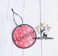 ith backpack tag, in the hoop embroidery, embroidery, machine embroidery, in the hoop tag, bag tag