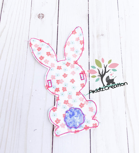 in the hoop bunny banner embroidery design, in the hoop banner, spring banner, easter banner, in the hoop design, in the hoop rabbit design, rabbit banner, easter banner, in the hoop rabbit banner
