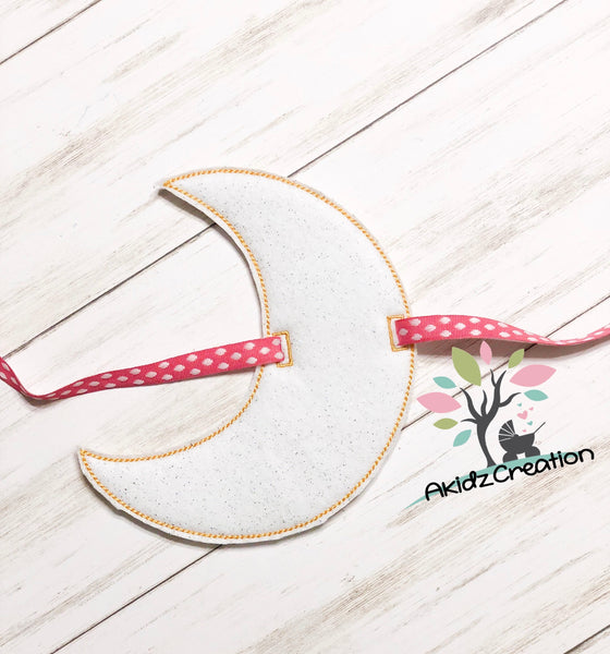 in the hoop embroidery design, in the hoop moon banner embroidery design, in the hoop banner embroidery design, moon embroidery design, sky embroidery design, in the hoop embroidery design