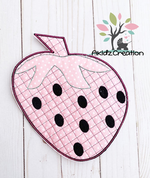 ith pot holder embroidery design, in the hoop hot pad embroidery design, strawvberry embroidery design, in the hoop strawberry embroidery design, in the hoop machine embroidery design, ith machine embroidery pattern, strawberry embroidery design