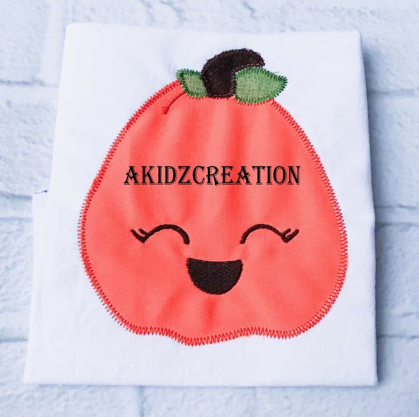 pumpkin embroidery, pumpkin applique, applique, kawaii pumpkin embroidery, pumpkin applique, thanksgiving embroidery, thanksigving applique