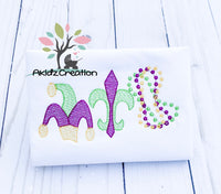 mardi gras embroidery design, mardi gras trio embroidery design, mardi gras sketch design, sketch embroidery design, jester hat embroidery design, sketch jester hat embroidery design, sketch fleur de lis embroidery design, fleur de lis embroidery design, mardi gras beads embroidery design, trio embroidery design, mardi gras trio embroidery design