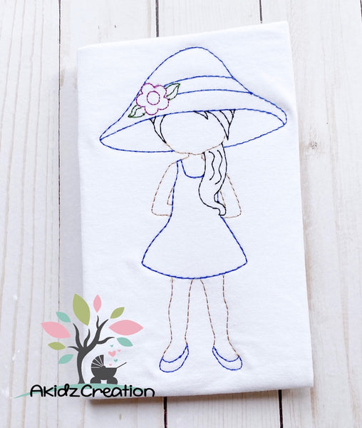 mom embroidery design, mothers day embroidery design, quick stitch embroidery design, lady in gardening hat embroidery design, flower embroidery design, quilting embroidery design