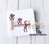 no more monkeys jumping on the bed embroidery design, machine embroidery, embroidery, akidzcreation, sketch embroidery, monkeys, sketch monkey, sketch animal, machine embroidery monkey design