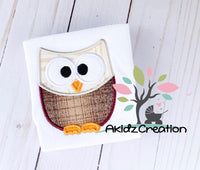 owl applique, owl embroidery design, woodland creature embroidery design, forest animal embroidery design, bird embroidery design, bird applique